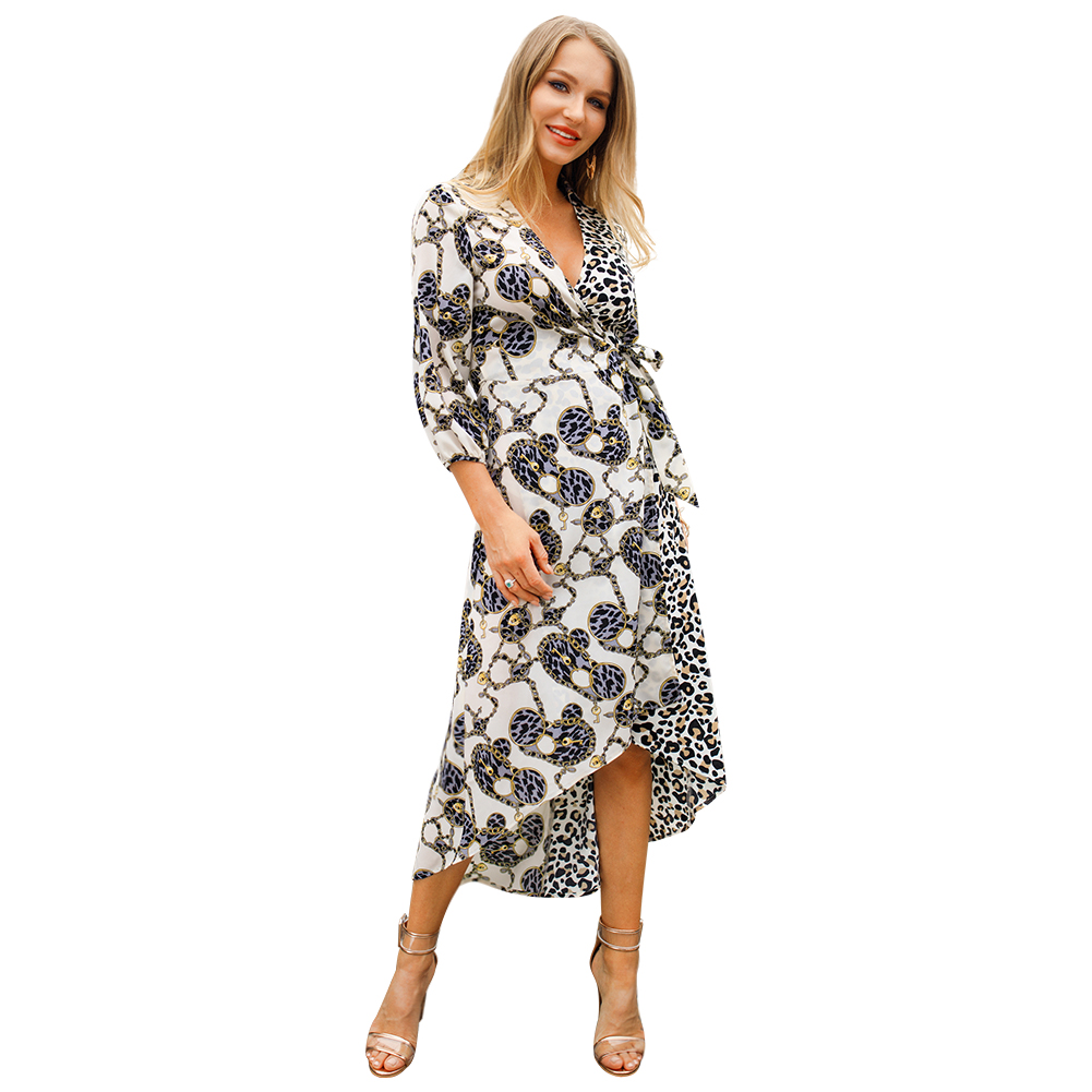 Kandiny - Large size short and long fashion seven-point sleeve dress