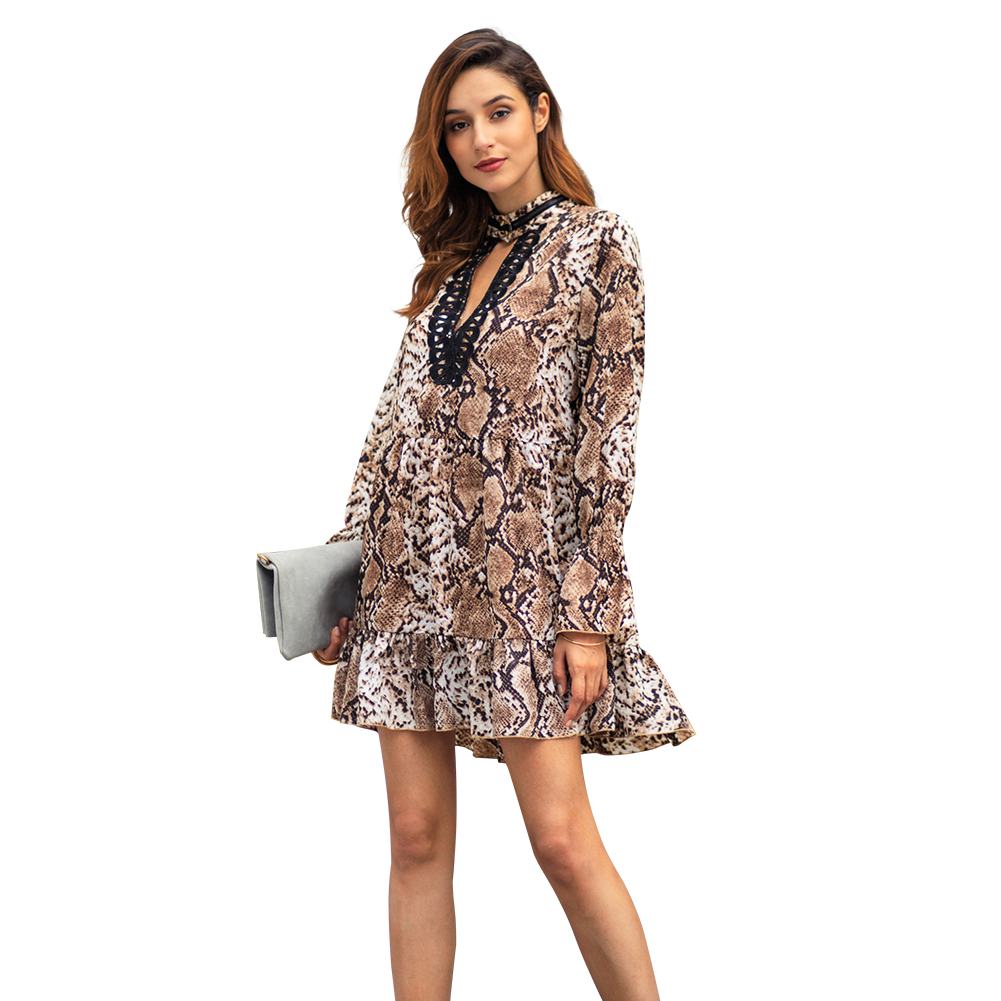 Kandiny - New Leopard Temperament Commuter Large Size Dress