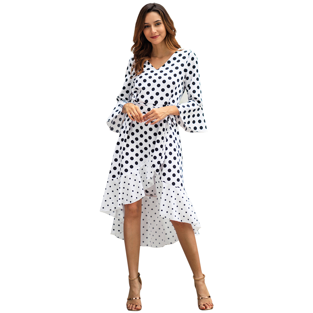 Kandiny - Spring new wave long sleeve large size dress