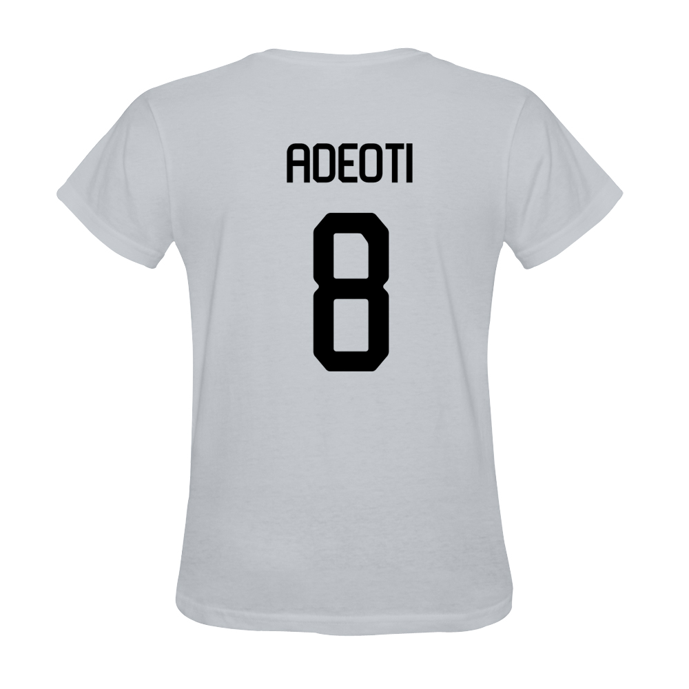 Mens Adeoti #8 White Jersey T-shirt