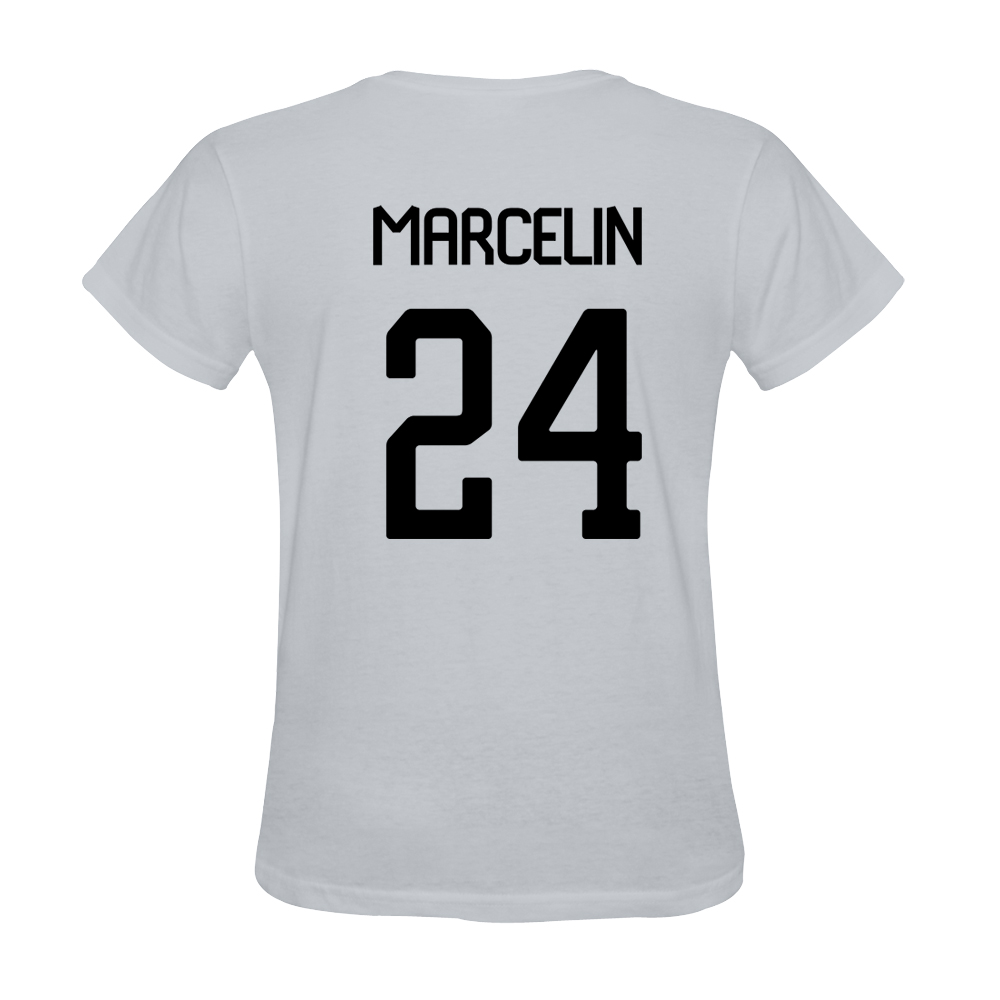 Mens Jean Marcelin #24 White Jersey T-shirt