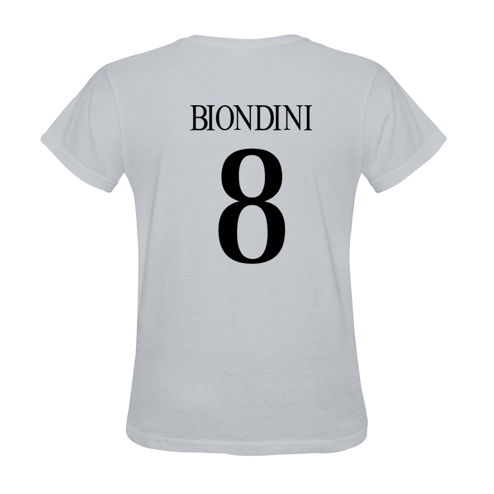 Mens Davide Biondini #8 White Jersey T-shirt