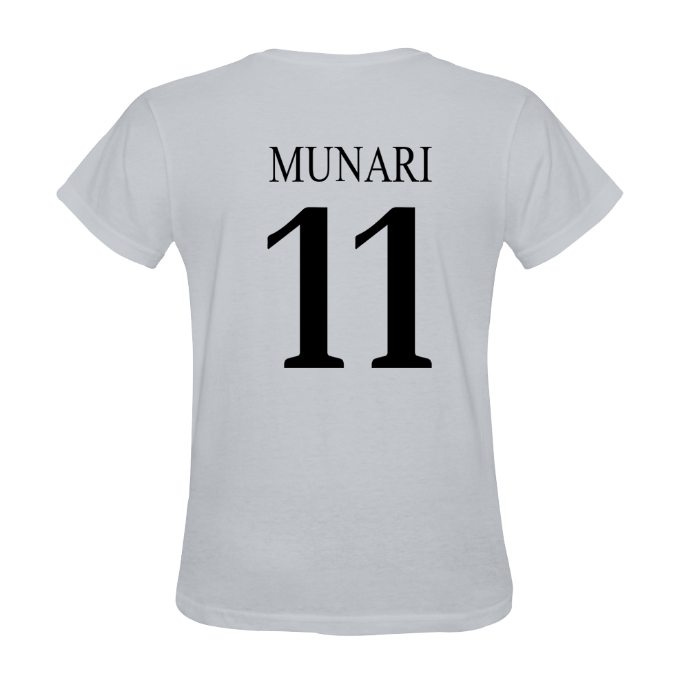 Mens Davide Munari #11 White Jersey T-shirt